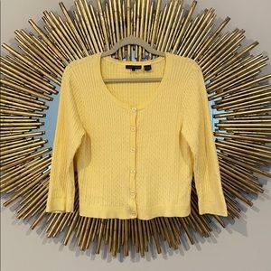 Jeanne Pierre Vintage Yellow Cropped Cardigan